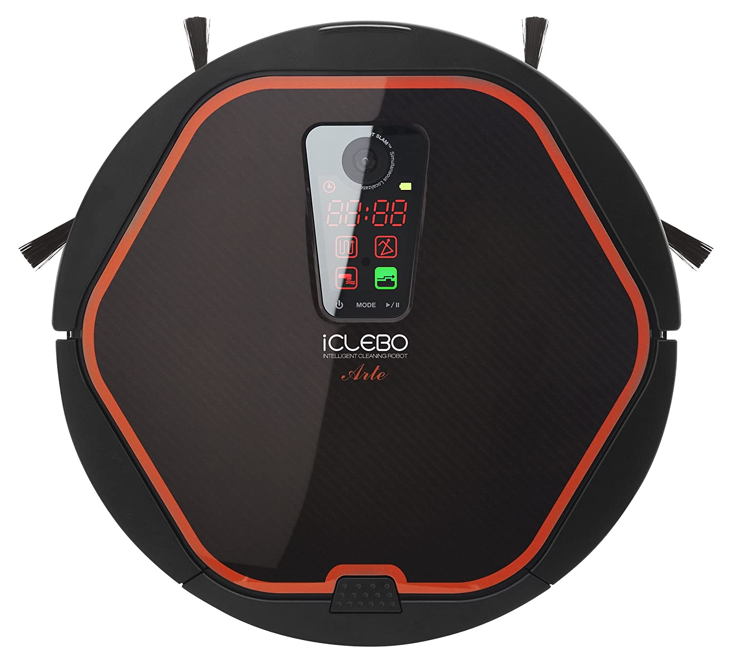 iClebo Arte Robot Vacuum Wet Mop All-Surface Cleaner, Good for Carpet & Hardwood Floor, Self-Cleans with Advanced Navigation Remote Control Camera-Mapping Technology