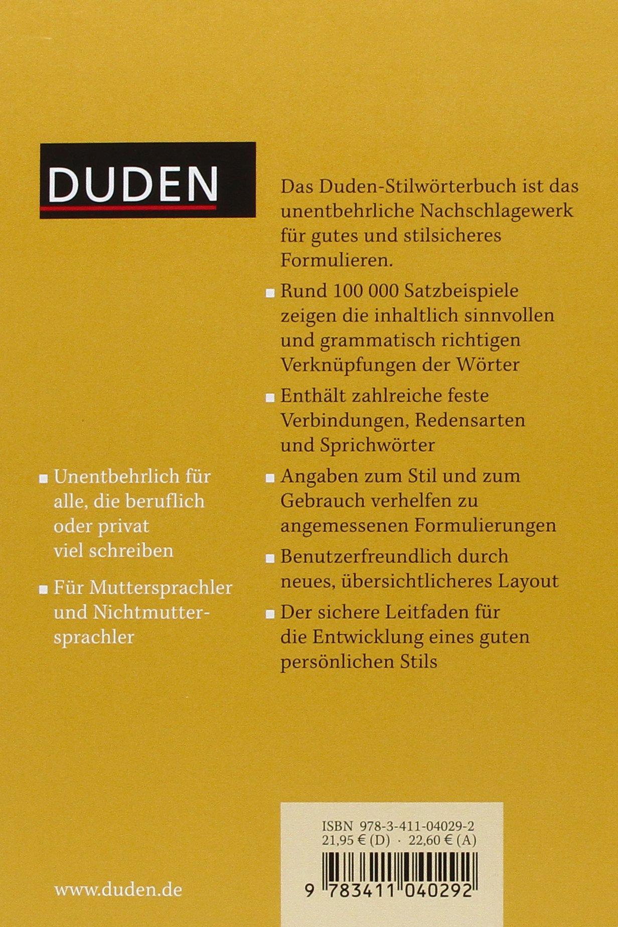Der duden in 12 banden 2 das stilworterbuch duden series volume 2 amazon co uk anne plantagenet 9783411040292 books