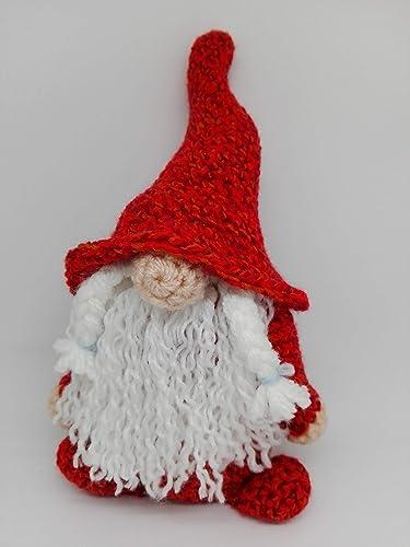 Vestito rosso stivali Di Natale renna cappello ragazza crochet ... | 500x375
