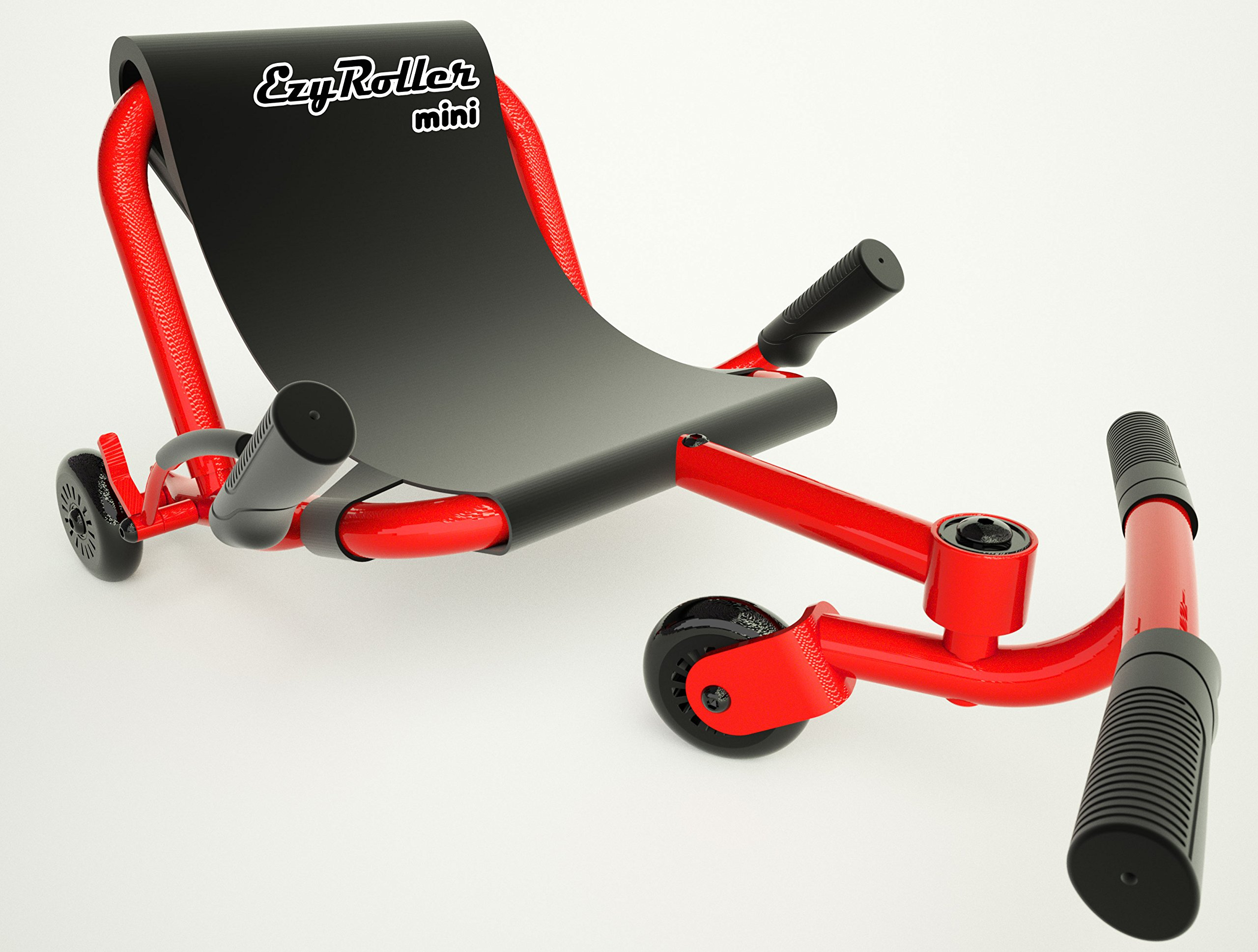 EzyRoller Mini - Red - Ride On for Children Ages 2 to 5 Years Old Twist on Classic Scooter - Kids Move Using Right-Left Leg Movements to Push Foot bar - Fun Play & Exercise for Boys & Girls