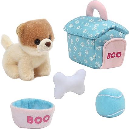 Set Of Dog Stuffed Animals, Amazon Com Gund Boo Dog House Playset Stuffed Animal Plush 5 Pieces Toys Games