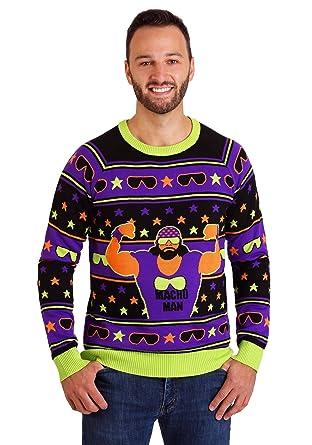 Amazoncom Wwe Macho Man Ugly Christmas Sweater Clothing