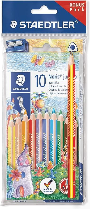 Staedtler 61SET8. Lápices de colores. Caja con 10 unidades más lápiz arcoiris y sacapuntas.: Amazon.es: Oficina y papelería