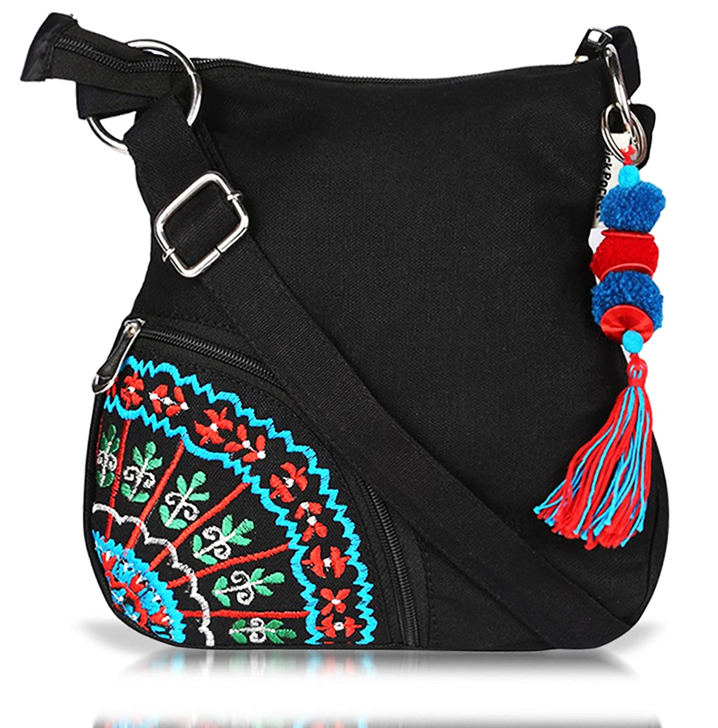 Sling Bag Pick Pocket Women's Sling Bag (Black,Slblkbside55 ...