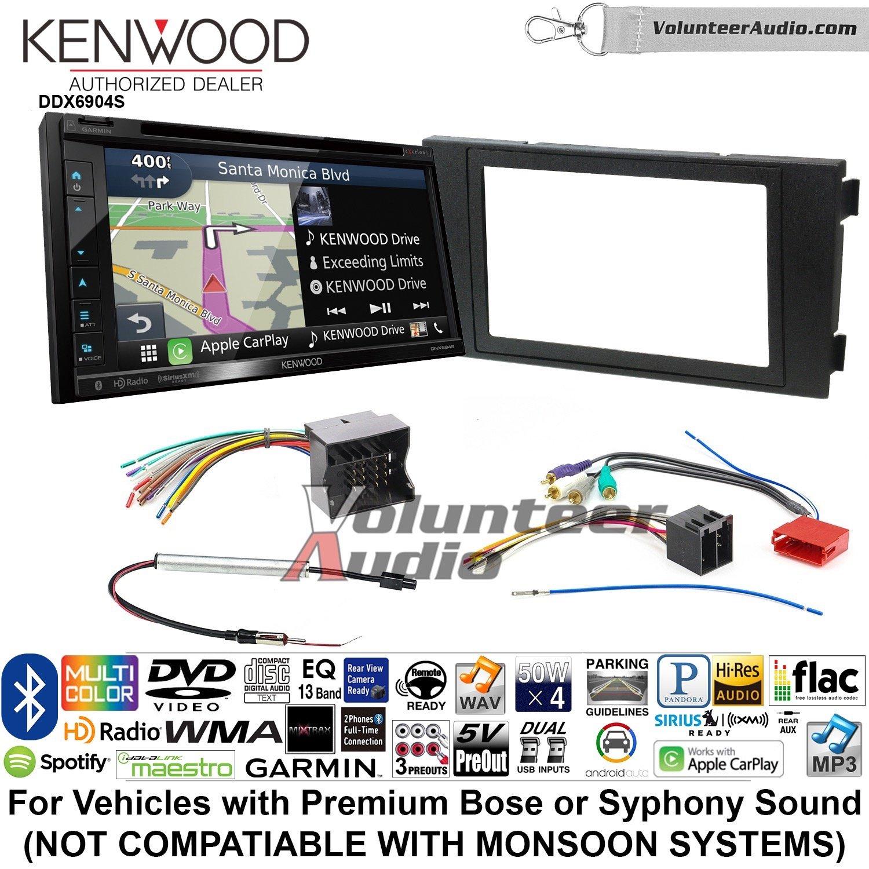 ボランティアオーディオケンウッドExcelon dnx694sダブルDINラジオインストールキットwith GPSナビゲーションシステムAndroid自動Apple CarPlay Fits 2000 – 2008アウディa6 B07BZ1BC8Y