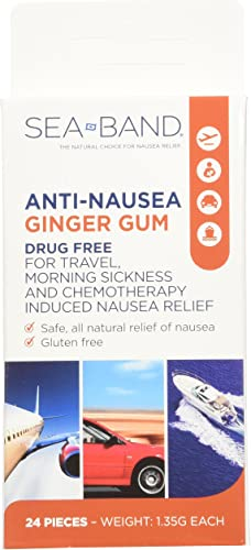 Anti-Nausea Ginger Gum 24 Count Pack of 3