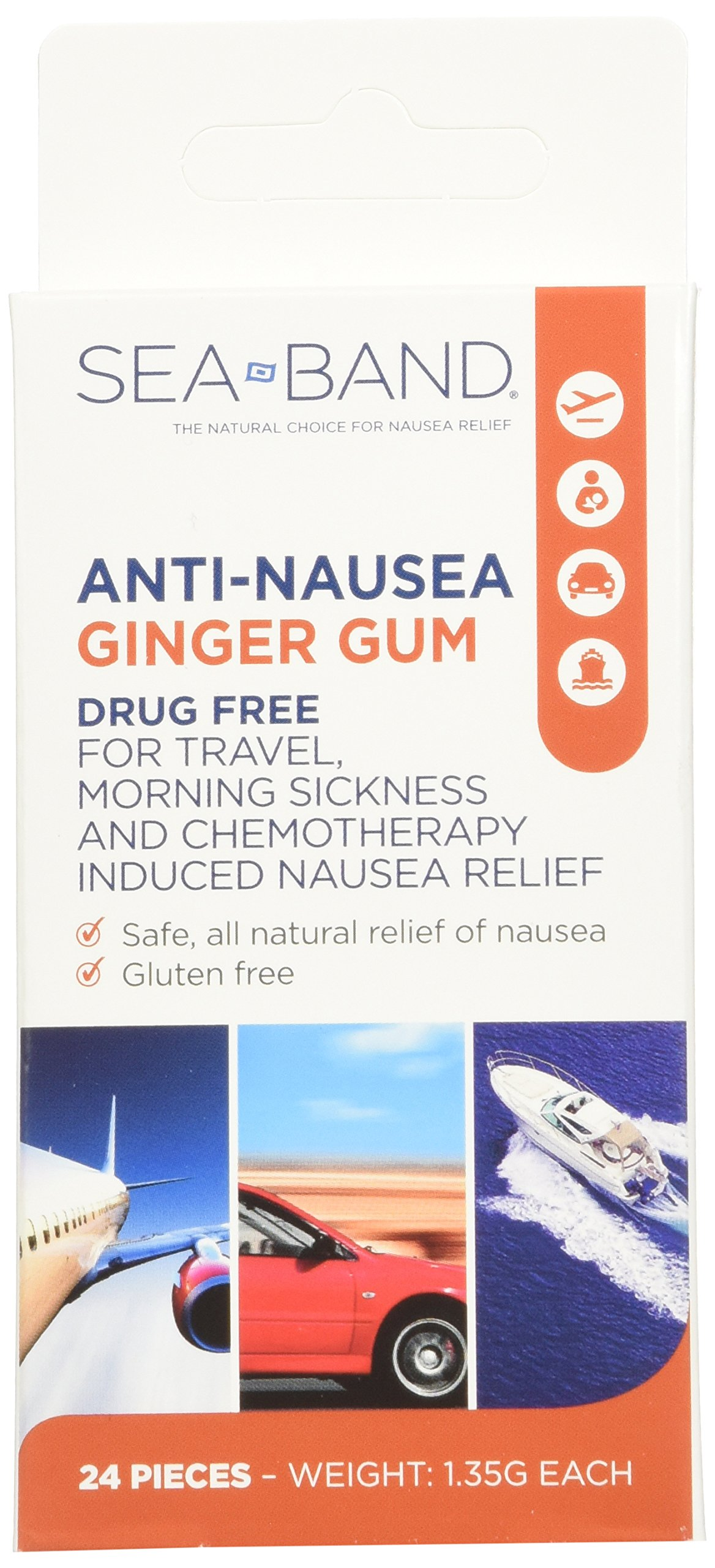 Anti-Nausea Ginger Gum 24 Count (Pack of 3)