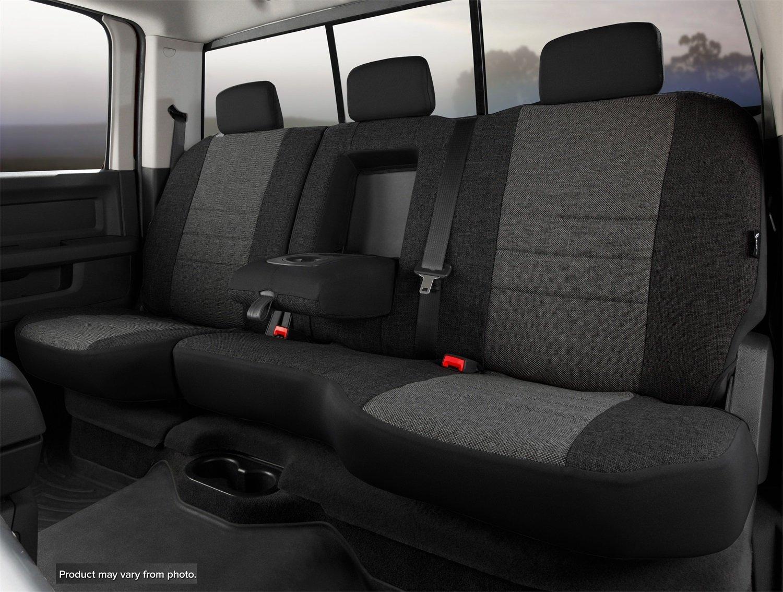 Gray Tweed Fia OE32-98 GRAY Custom Fit Rear Seat Cover Split Seat 60//40