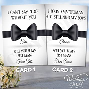 Amazon.com: Will you be my Best Man Usher Padrino Maestro de ...