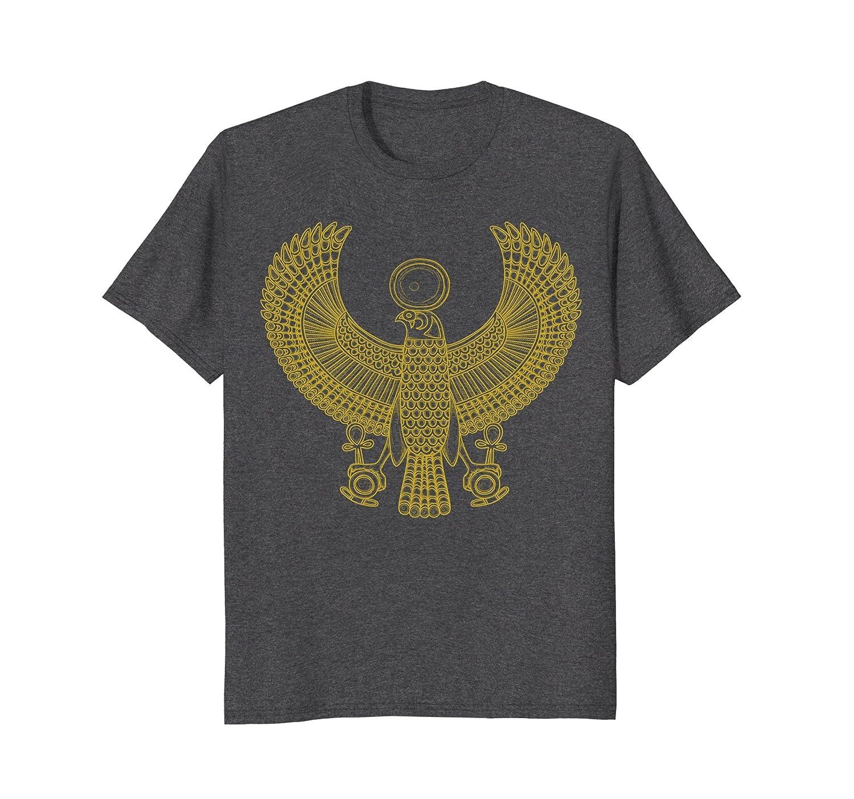 Mens Egyptian Queen Nefertiti Bird Pyramid Falcon KingTut T-Shirt-AZP