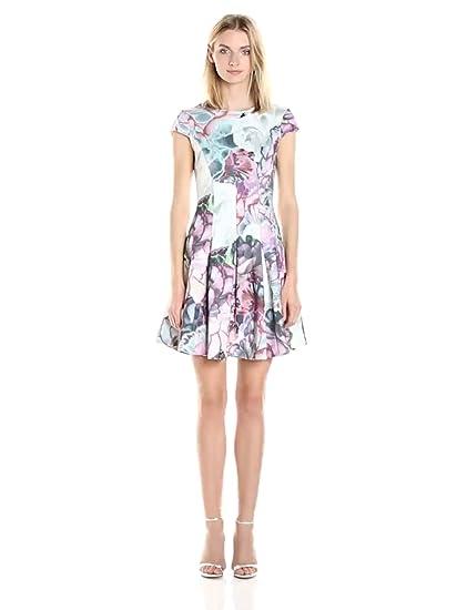 111259bb0af098 Amazon.com  Ted Baker Women s Mah Illuminated Bloom Skater Dress ...