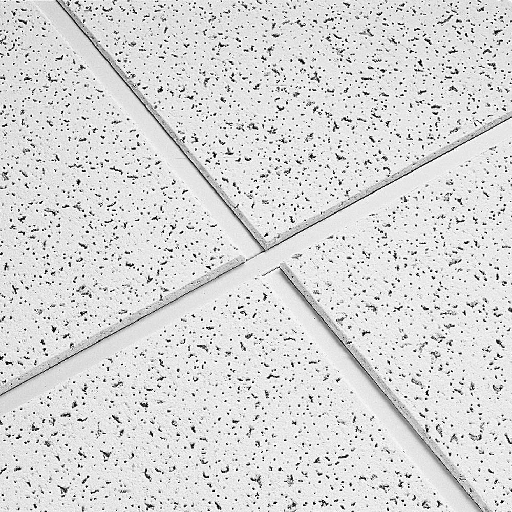 Armstrong Ceiling Tiles; 2x2 Ceiling Tiles - Acoustic Ceilings for Suspended Ceiling Grid; Drop Ceiling Tiles Direct from the Manufacturer; CORTEGA Item 704 - 16 pc White Tegular by Armstrong (Image #3)