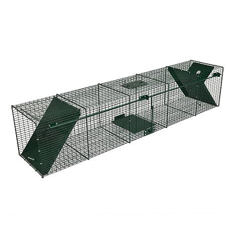 Trampa para animales vivos - gatos martas zorros - 150x32x32cm - De alambre robusto - 2
