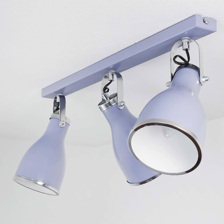 Schöne Deckenleuchte in Blau 3x E27 bis zu 60 Watt 230V aus Metall & schwenkbar Küche Esszimmer Lampe Leuchten Beleuchtung