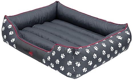 Hobbydog - Cama para Perro, Gris (Con Patas), XXL (110x90x25 cm