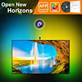 """LED Smart TV Backlight kit with Camera,MINGER 8.53ft Ambient Bias Lighting RGB Strip Lights with App,3-Modes (Video,Music,Custom), Compatible for Any TV Signal (Not Only HDMI), (55""""-60"""")"""