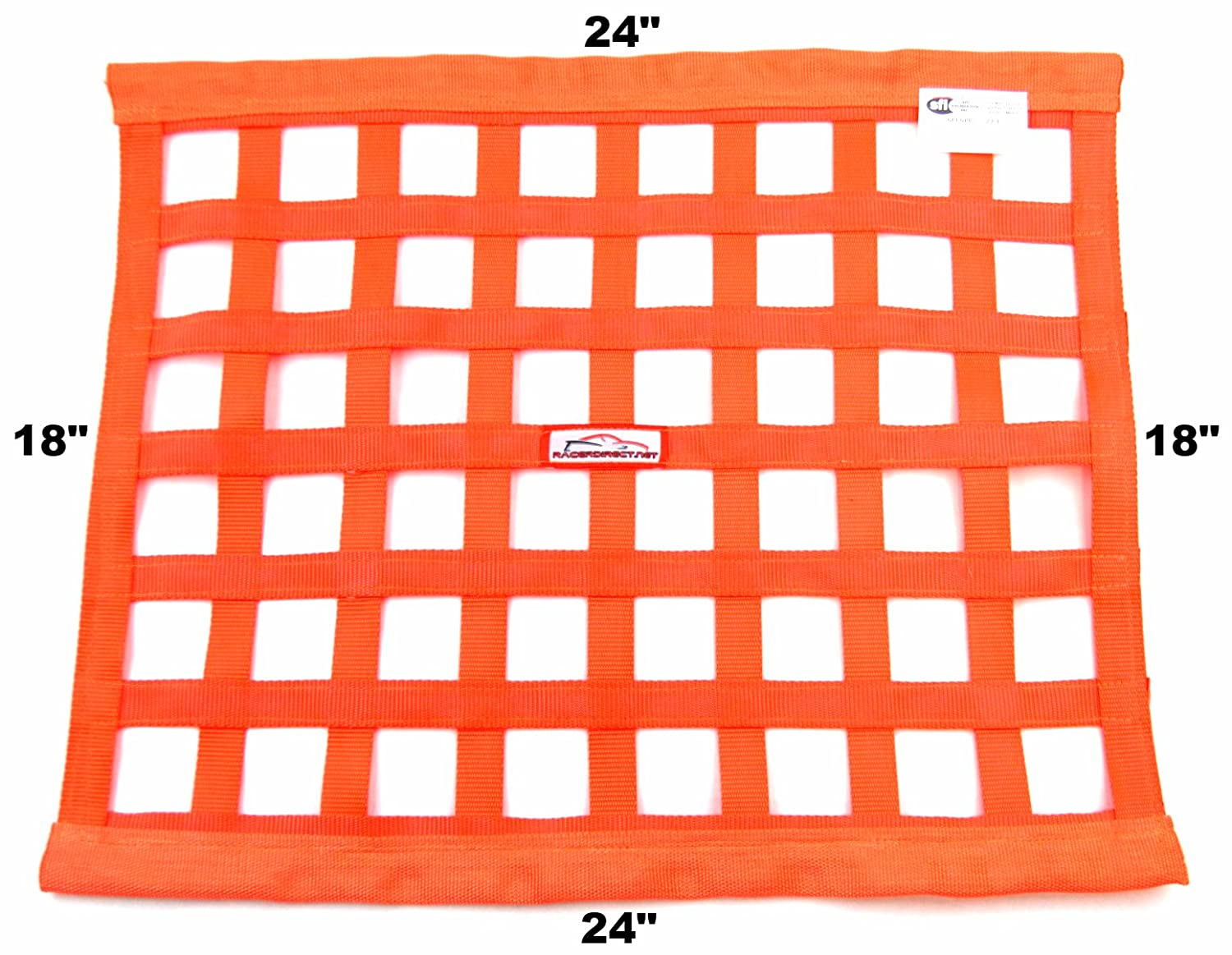 Racerdirect.net SFI 27.1 Race Window NET Rectangle 24 X 18 Orange