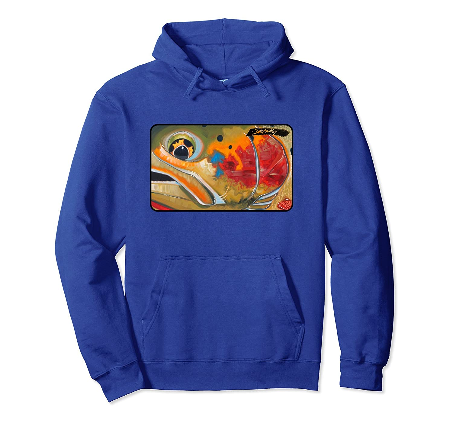 Cutthroat Yellowstone Fly Fishing Hoodie Derek DeYoung-ah my shirt one gift