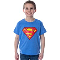DC Comics Boys' Superman Classic Logo Heather Kids Youth T-Shirt