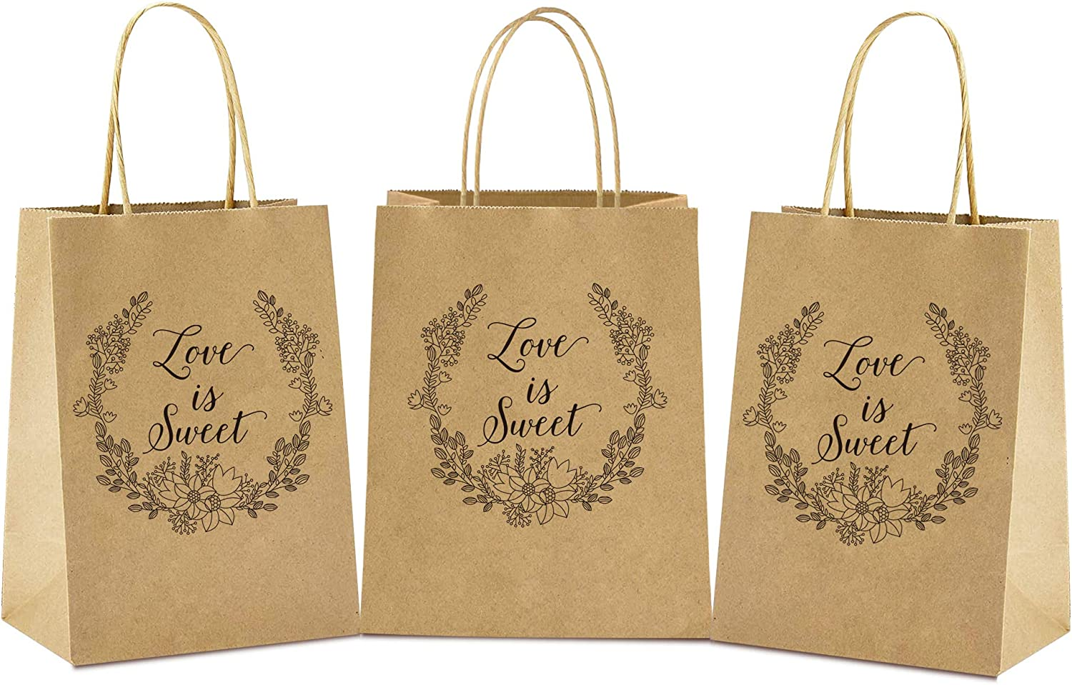 Wedding Favor Bags 50pcs Wedding Treat Bags for Candy Craft Gift Packaging Business bags 6 × 8 × 3 in