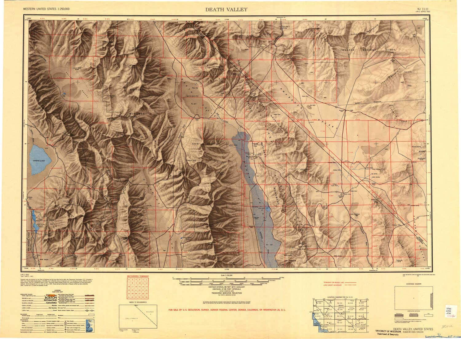 topographic map of death valley Amazon Com Yellowmaps Death Valley Ca Topo Map 1 250000 Scale