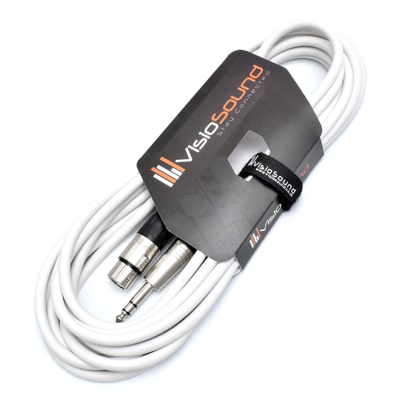 C/âble patch audio signal /équilibr/é 1m Rouge C/âble XLR femelle /à jack TRS st/ér/éo 6,35mm