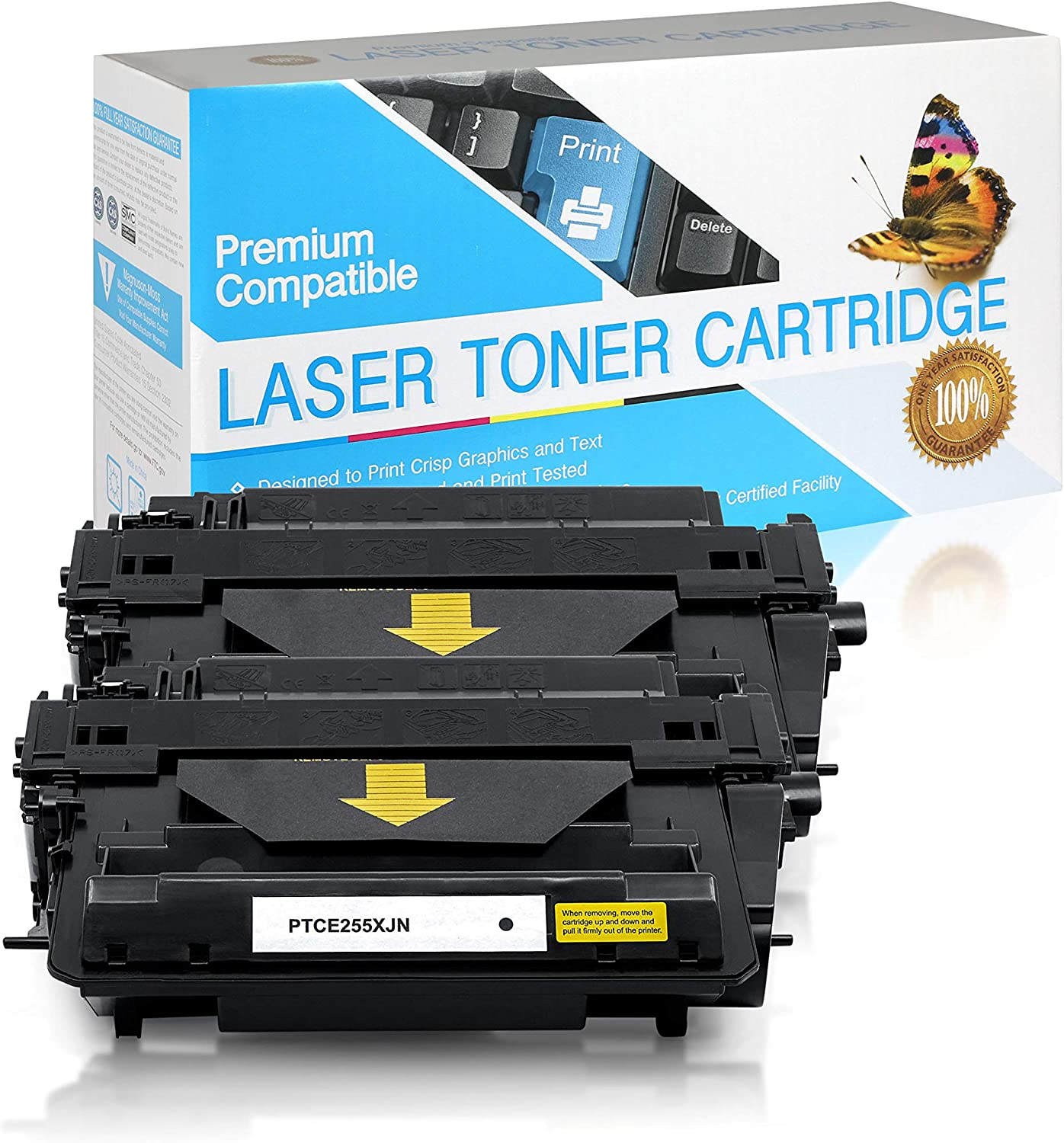 Jumbo High Yield Black,2 Pack CE255X SuppliesOutlet Compatible Toner Cartridge Replacement for HP 55X