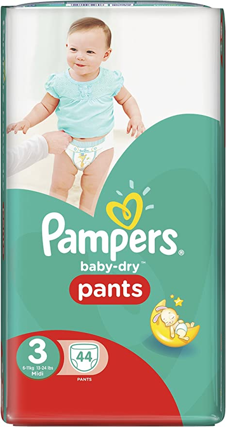 11 kg 46 Pieces Pampers Baby Dry Nappies Size 3 6 kg