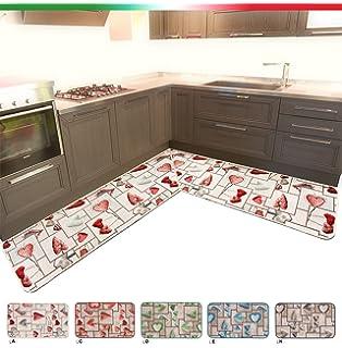 ARREDIAMOINSIEME-nelweb Tappeto Cucina ANGOLARE SU MISURA Bordato ...
