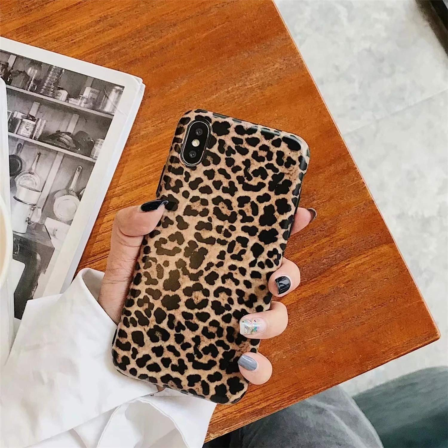Amazon.com: Retro Tiger Leopard Print Panther Silica Soft IMD Phone case for iPhone Xs XR XS Max X 6 6s 7 8 Plus Mobile Phone Shell Coque,JJ4D50,for iPhone ...