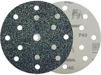 Six Holes 150Mm Hook-N-Lo Op Backed P80 Pack Of 25