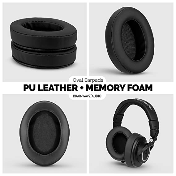 HifiMan Philips /Adecuado para Muchos Otros Grandes sobre la Oreja Auriculares/ Sony Hybrid AKG /Sennheiser Fostex ATH Brainwavz XL Grande de Repuesto Almohadillas de Espuma con Efecto Memoria/