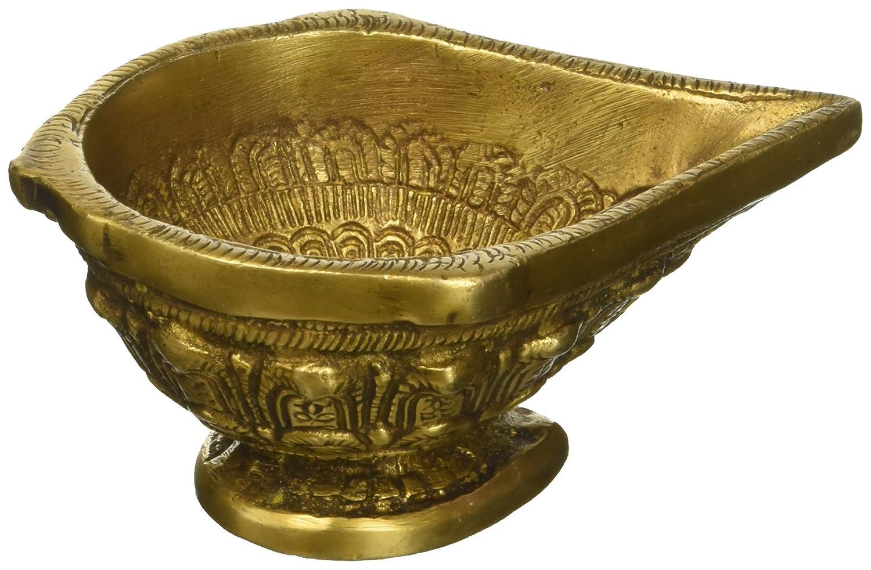 Amazon.com: CraftVatika Pair Of Diya Oil Lamp Brass Sculpture Puja ...