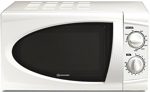 Schneider - Microondas Smw5, 20L, 700W Singrill 45X25X29F, Blanco