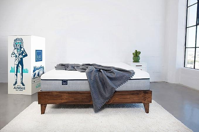 amazon com lull memory foam mattress queen size 3 layers of