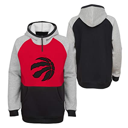 Toronto Raptors Youth Regulator 1 4 Zip Pullover Fleece Hoodie - Size Youth  Small (8)  Amazon.ca  Sports   Outdoors e06c73f35