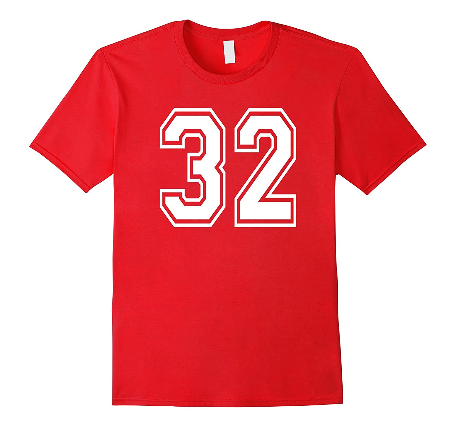 32 Sports Team School Numbers on Front Shirt Jersey-TH