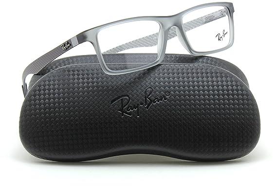 d35df67f37 Ray-Ban RX8901 Rectangular Carbon Fiber Prescription Glasses 5244 - 53   Amazon.co.uk  Clothing