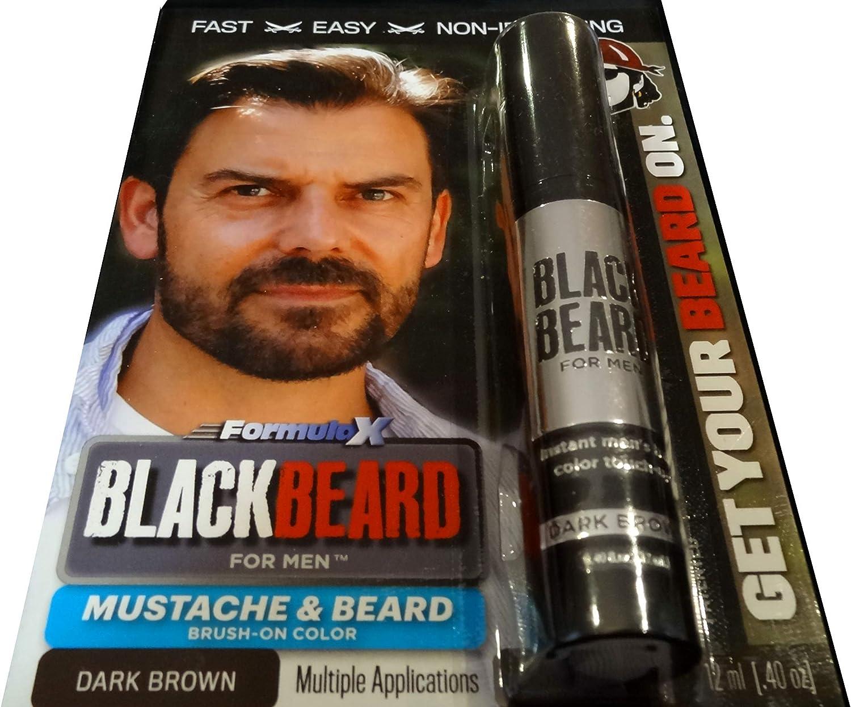 Colorante temporal para barba Blackbeard for Men de 12 ml, color marrón oscuro