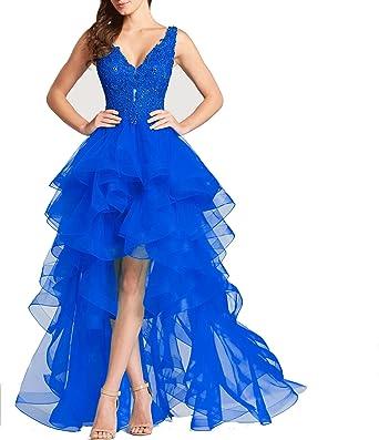 Ladsen Hi-Lo Designers Prom Dresses Royal Blue US16 Size
