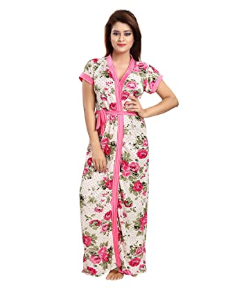 79e020dee Shopping Station Women's Night Robe (nighty-B07413F92R, Pink, Pack of 2)