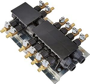 SharkBiteRM22712 12Port Barb Manifold with Brass Ball Valves