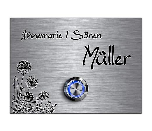 Acero inoxidable timbre con grabado y LED Müller ...