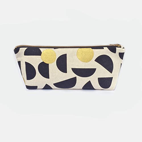 610af4cd9919 Amazon.com: Geometric Pencil Case Small Makeup Bag, Handcraft Canvas ...