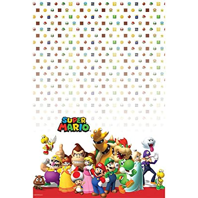 Super Mario Party Birthday Supplies Brothers 2 Pack tablecovers: Toys & Games