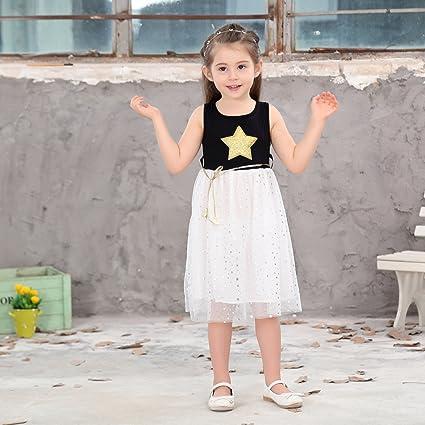 Ropa de niñas, Morbuy Estrella de Cinco Puntas Vestidos de Fiesta de Princesa Super Lindo