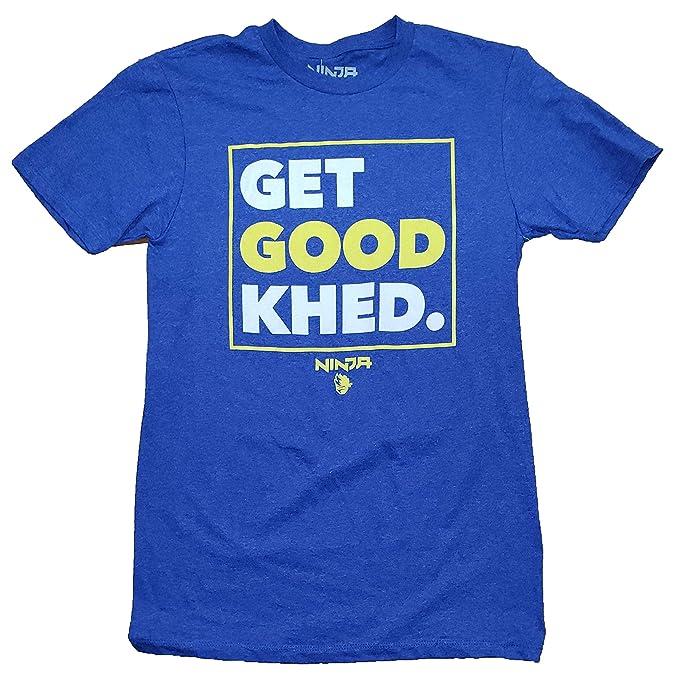 Ninja Tyler Blevins Get Good Khed! Blue Graphic T-Shirt