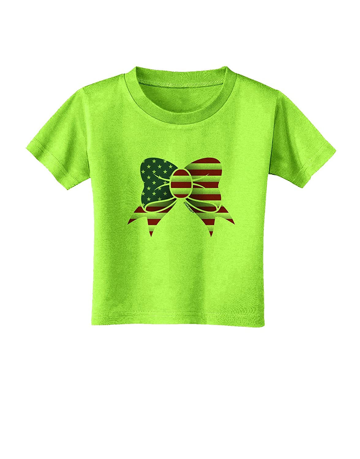 TooLoud Patriotic Bow Toddler T-Shirt