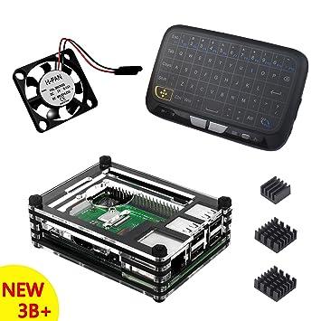 Caja Para Raspberry Pi 3 Modelo B+ Plus Carcasa con Teclado ...