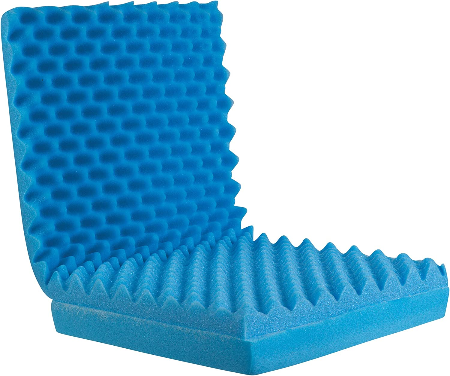 Egg Crate Sculpted Foam Seat Cushion with Full Back, Blue: Health & Personal Care